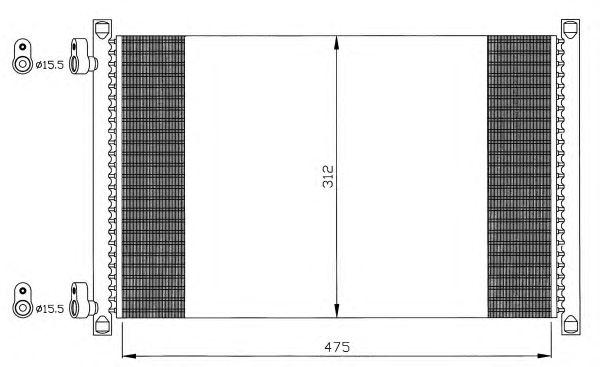 Радиатор кондиционера NRF 35490