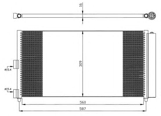 Радиатор кондиционера NRF 35500