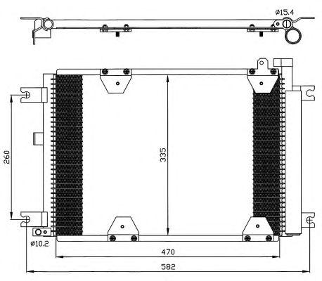 Радиатор кондиционера NRF 35580