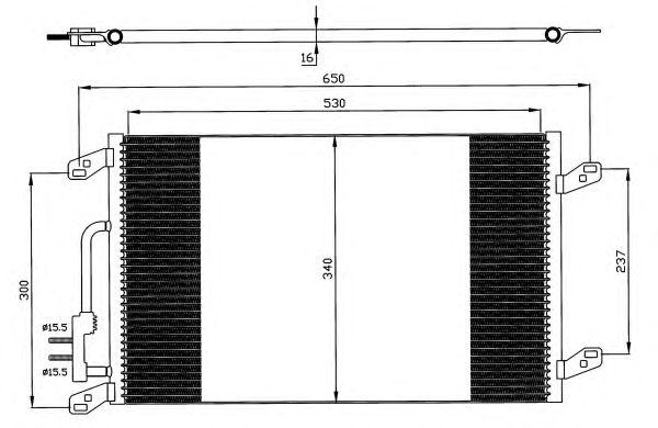 Радиатор кондиционера NRF 35615