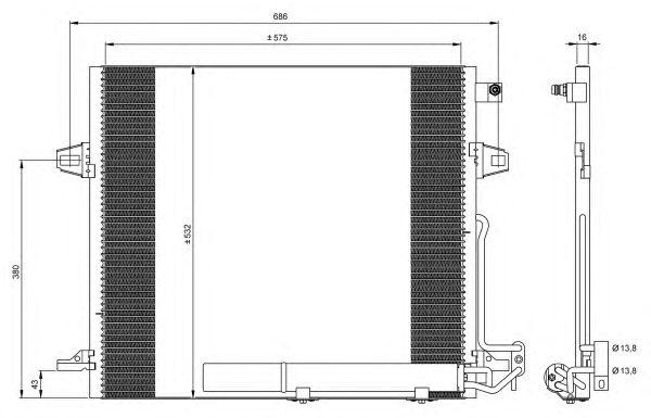Радиатор кондиционера NRF 35618