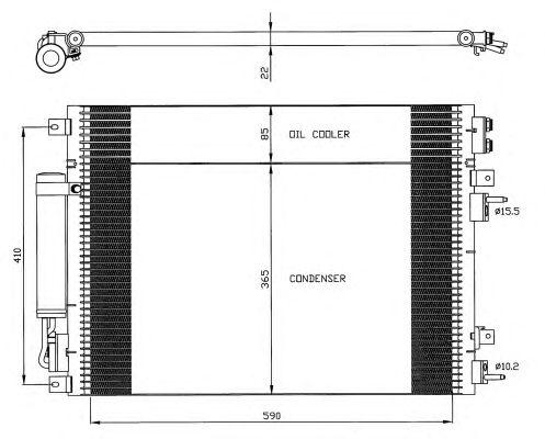 Радиатор кондиционера NRF 35626