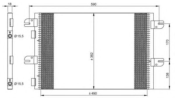 Радиатор кондиционера NRF 35792