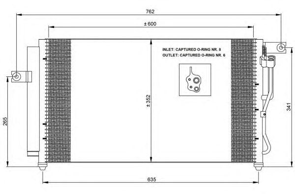 Радиатор кондиционера NRF 35798