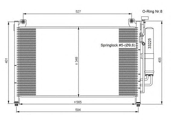 Радиатор кондиционера NRF 35870