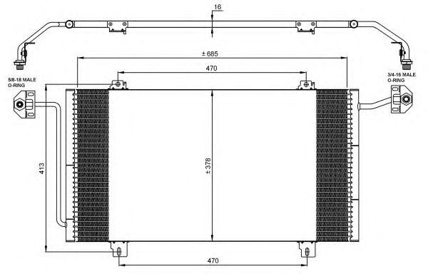 Радиатор кондиционера NRF 35908