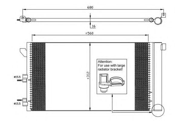 Радиатор кондиционера NRF 35921