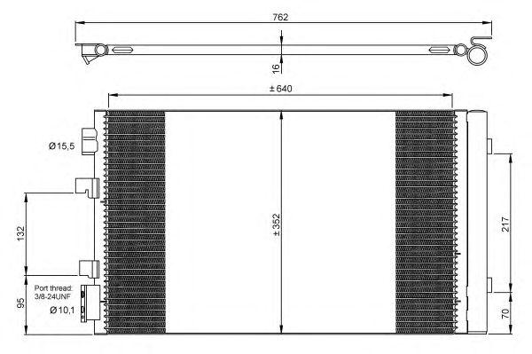 Радиатор кондиционера NRF 35938