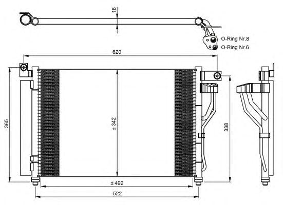 Радиатор кондиционера NRF 35964