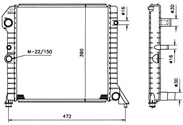 Радиатор, охлаждение двигателя NRF 506991
