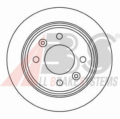 Тормозной диск A.B.S. 15890
