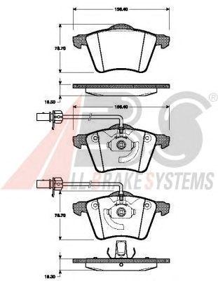 Тормозные колодки A.B.S. 37453