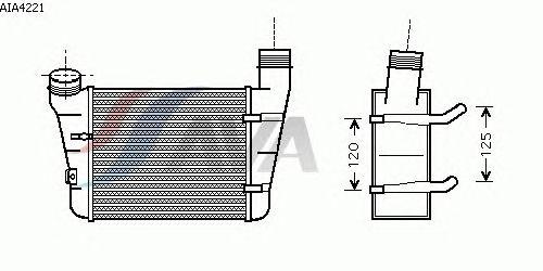 Интеркулер AVA QUALITY COOLING AIA4221