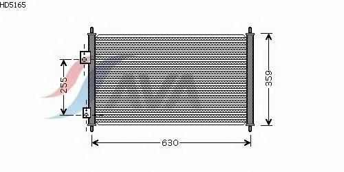 Радиатор кондиционера AVA QUALITY COOLING HD5165