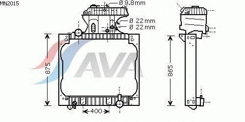Радиатор, охлаждение двигателя AVA QUALITY COOLING MN2015