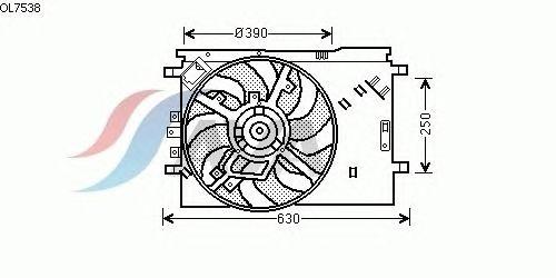 Вентилятор охлаждения AVA QUALITY COOLING OL7538