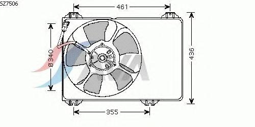 Вентилятор охлаждения AVA QUALITY COOLING SZ7506