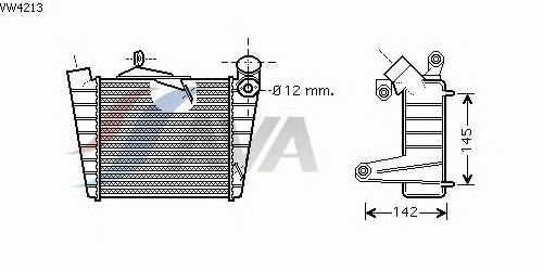 Интеркулер AVA QUALITY COOLING VW4213