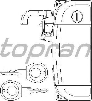 Ручка двери TOPRAN 109 912
