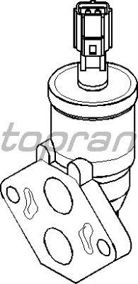 Поворотная заслонка, подвод воздуха TOPRAN 302 680