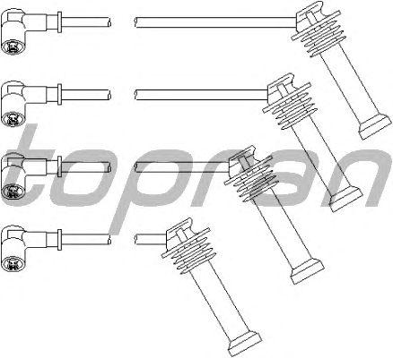 Комплект высоковольтных проводов TOPRAN 302 043