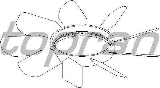 Крыльчатка вентилятора охлаждения TOPRAN 400 998