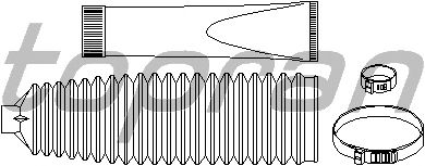 Комплект пыльников рулевой рейки TOPRAN 207 132