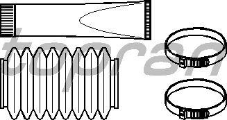Комплект пыльников рулевой рейки TOPRAN 720 237