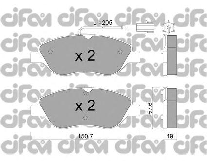 Тормозные колодки CIFAM 822-577-1