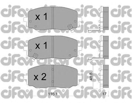 Тормозные колодки CIFAM 822-912-0