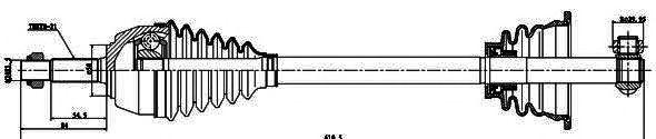 Приводной вал GSP 250020