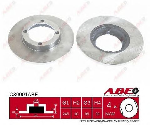 Тормозной диск ABE C30001ABE