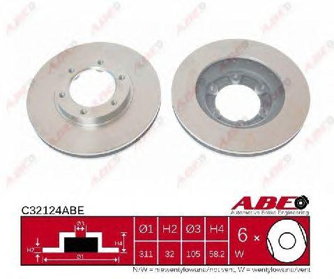 Тормозной диск ABE C32124ABE