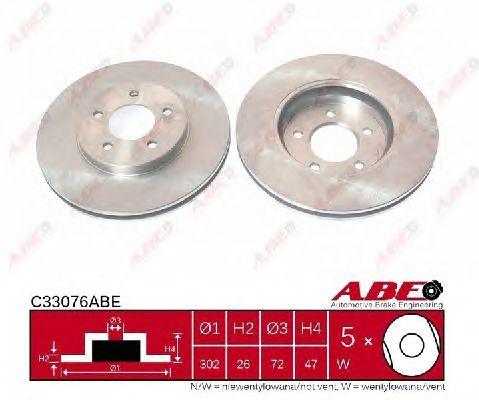 Тормозной диск ABE C33076ABE