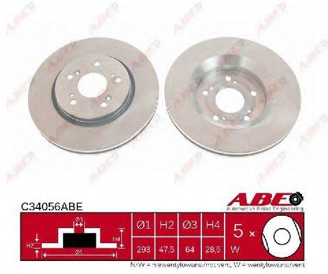 Тормозной диск ABE C34056ABE