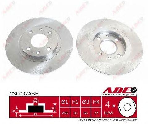 Тормозной диск ABE C3C007ABE