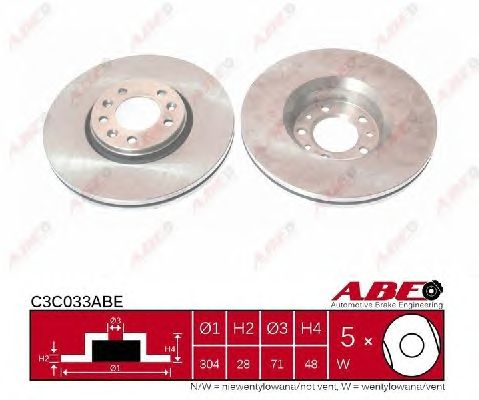 Тормозной диск ABE C3C033ABE