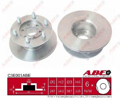 Тормозной диск ABE C3E001ABE