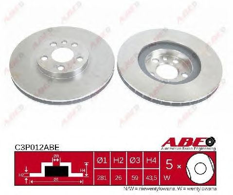 Тормозной диск ABE C3P012ABE