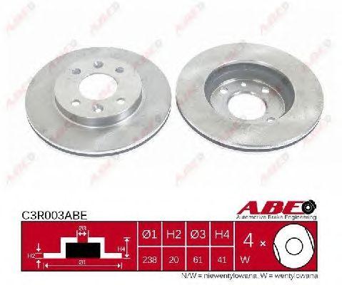 Тормозной диск ABE C3R003ABE