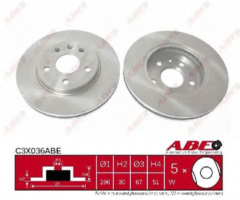 Тормозной диск ABE C3X036ABE