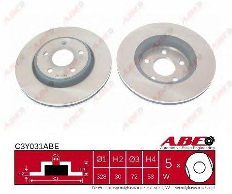 Тормозной диск ABE C3Y031ABE