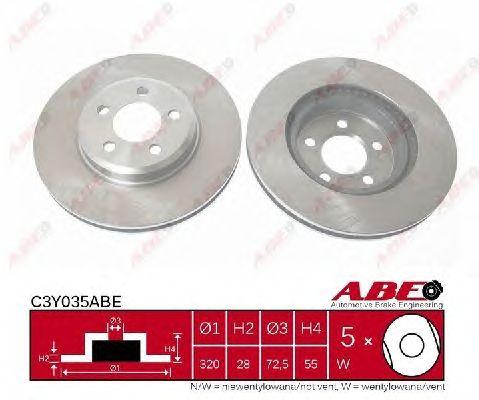 Тормозной диск ABE C3Y035ABE