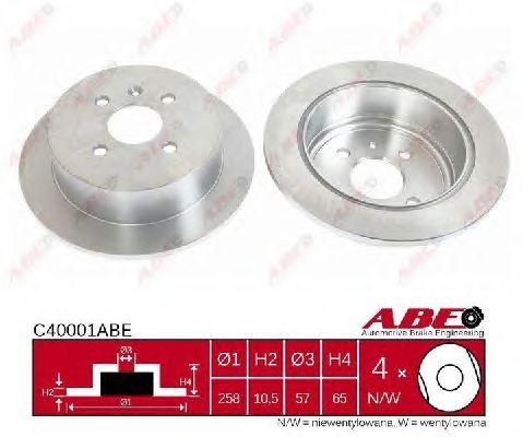 Тормозной диск ABE C40001ABE