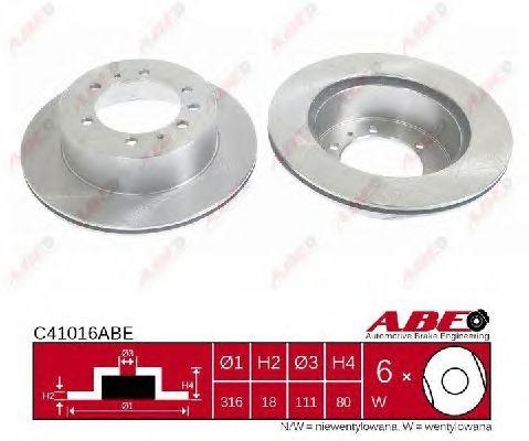 Тормозной диск ABE C41016ABE