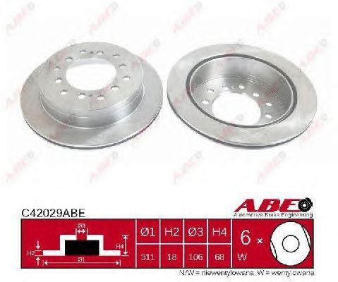 Тормозной диск ABE C42029ABE
