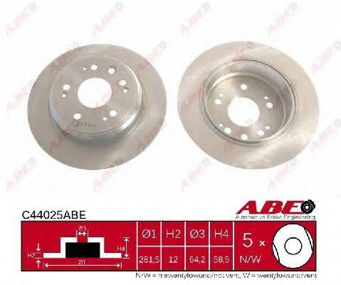 Тормозной диск ABE C44025ABE
