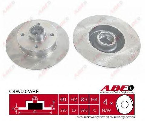 Тормозной диск ABE C4W002ABE