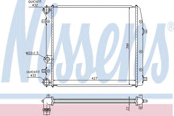 Радиатор, охлаждение двигателя NISSENS 652691