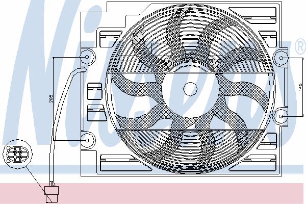 Вентилятор кондиционера NISSENS 85629